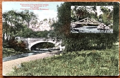 Washington Irving Memorial Bridge Tarrytown NY Postcard