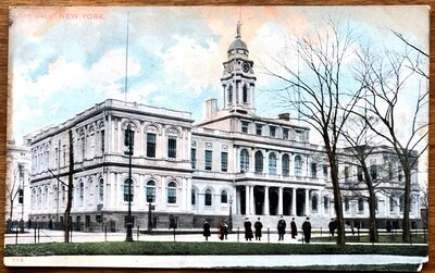 City Hall New York Vintage Color Postcard