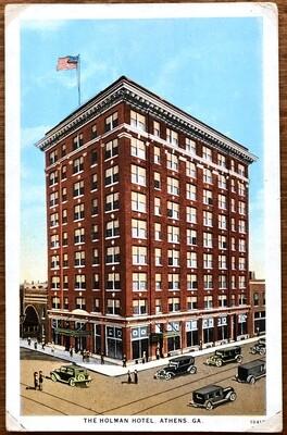 The Holman Hotel Athens GA Vintage Curt Teich & Co Postcard