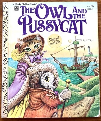 The Owl and the Pussycat Little Golden Book Sanderson Signed