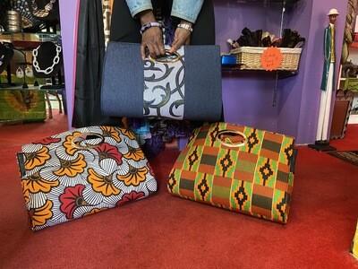 African Print Bag w/ Skirt & Headwrap (inside)