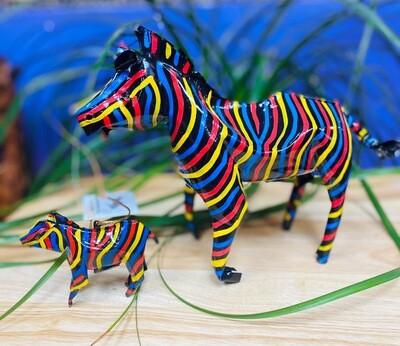 Painted Tin Zebra (large)