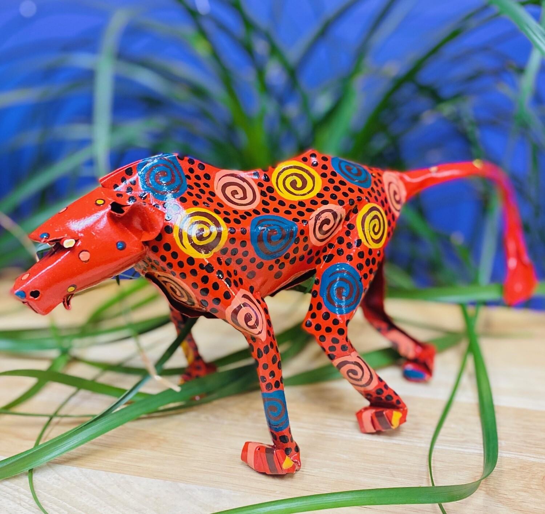Painted Tin Baboon of Zimbabwe