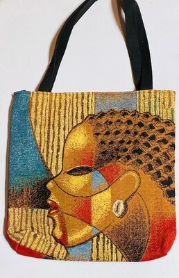 Shades of Color Tote Bag (cornrows & cowrie shell)
