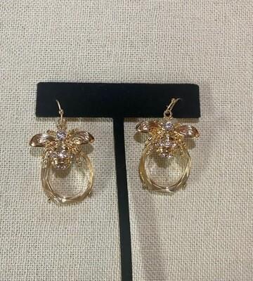 Clear Bee Earrings
