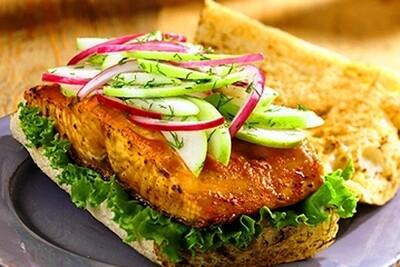 Salmon Roll  Sandwich