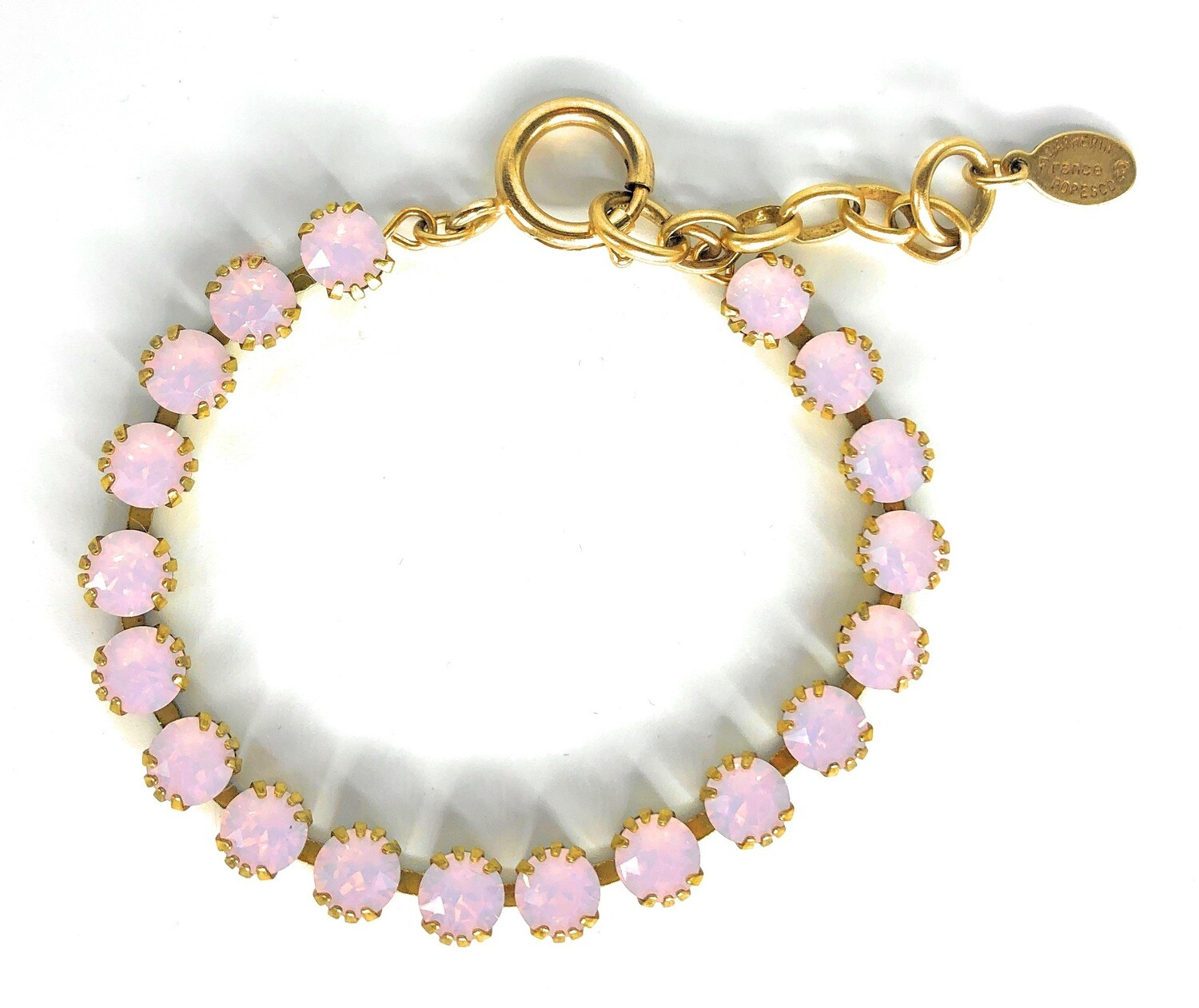 TENNIS BRACELET Gold With Rose-Water Swarovski Crysal