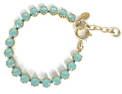 TENNIS BRACELET Gold With Pacific Opal Swarovski Crysal