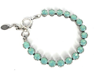 TENNIS BRACELET Silver With Pacific Opal Swarovski Crysal