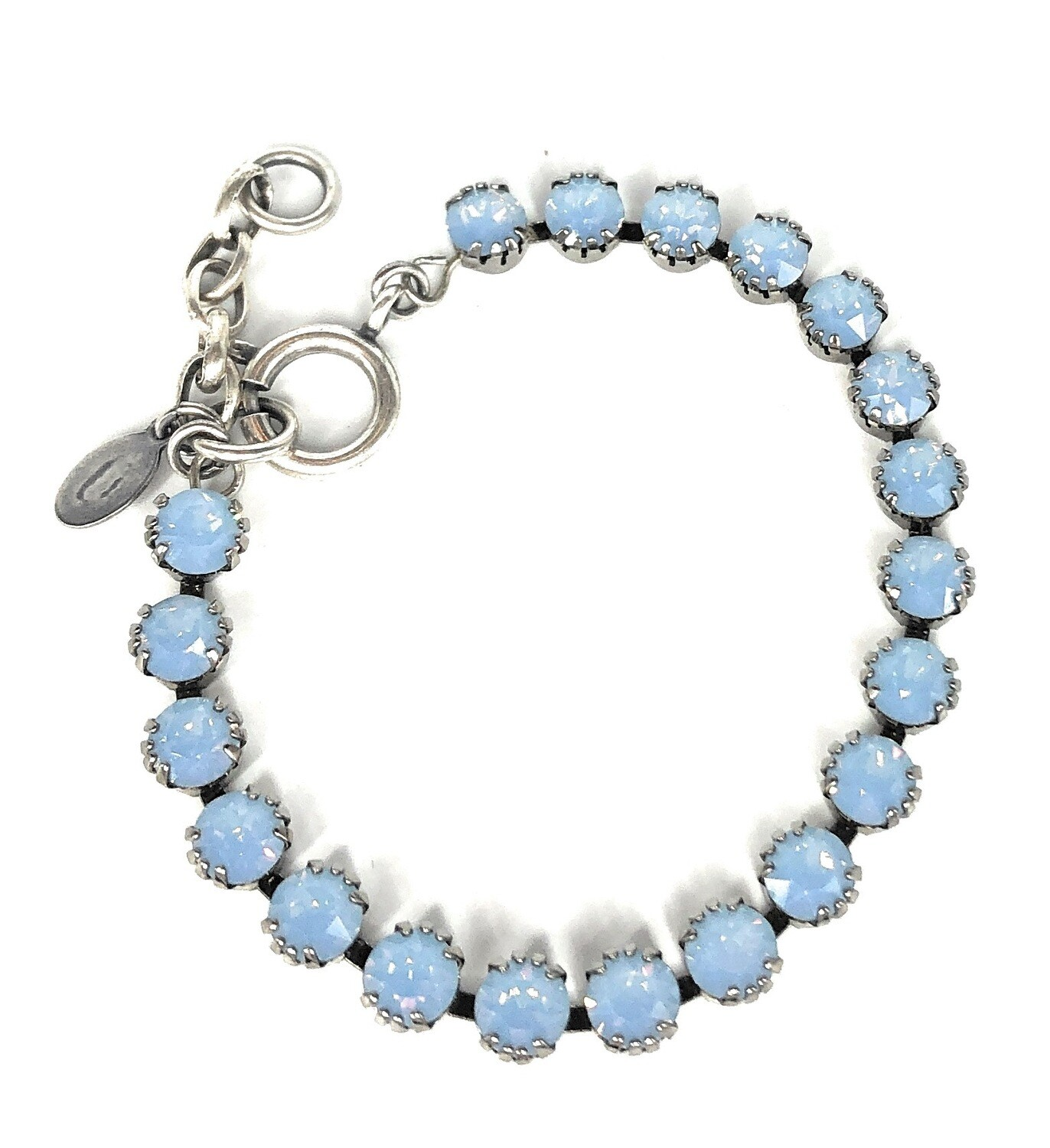 TENNIS BRACELET Silver With Air-Blue Swarovski Crysal