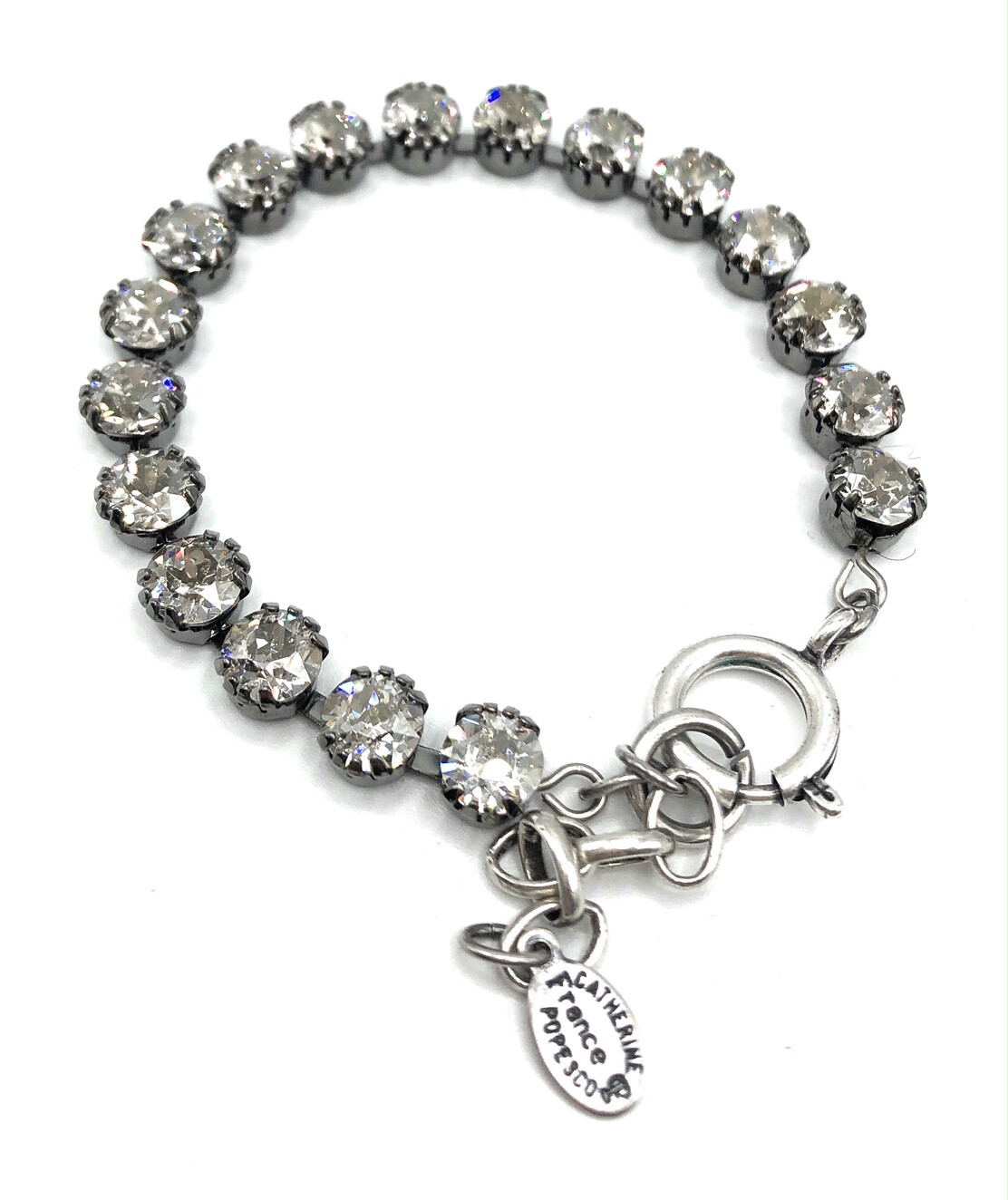 TENNIS BRACELET Silver With Light Gray Swarovski Crystal