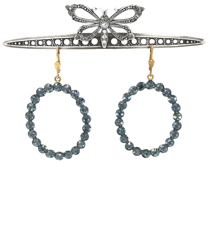 La Vie Parisienne BOHEMIAN RHAPSODY Gold With Sea Blue Swarovski Crystals