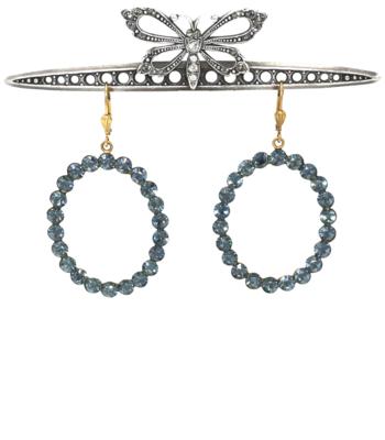 BOHEMIAN RHAPSODY Gold With Sea Blue Swarovski Crystals