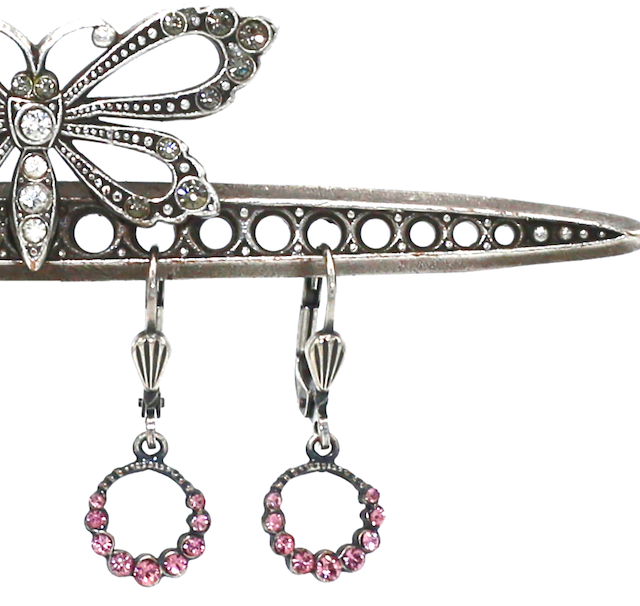 THE CINDY'S Silver With Vintage Pink Swarovski Crystal