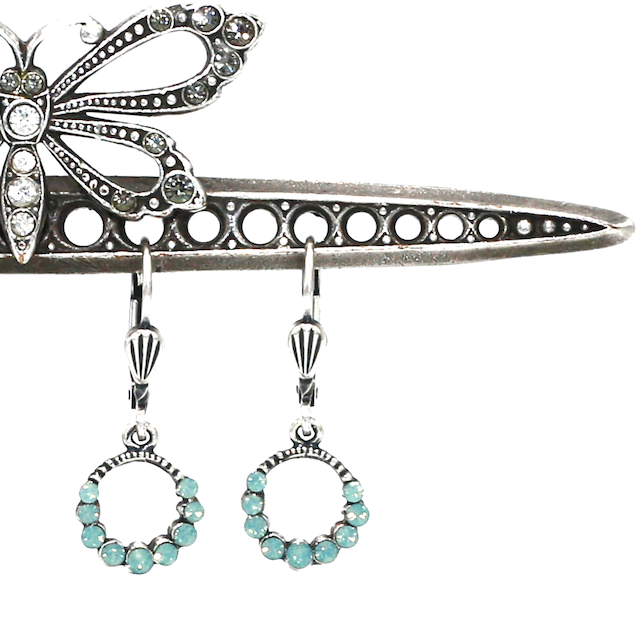 THE CINDY'S Silver With Pacific Opal Swarovski Crystal