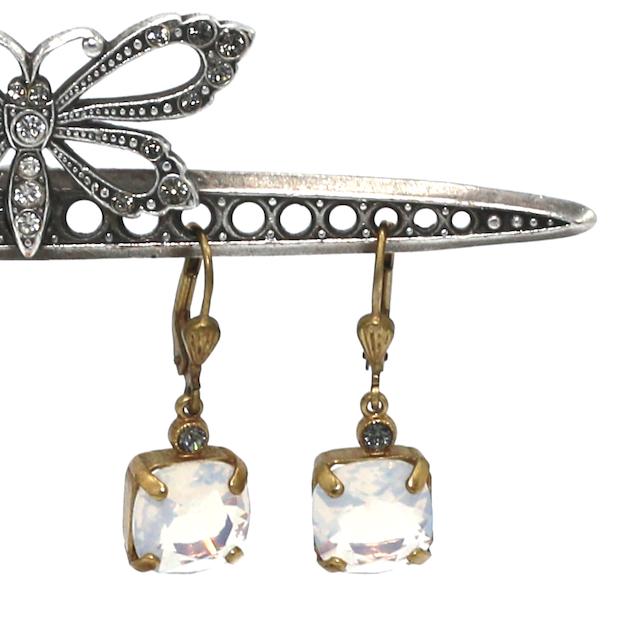 OPRAH Gold With White Opal Swarovski Crystal