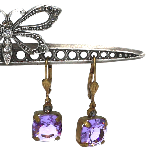 OPRAH Gold With Lavender Swarovski Crystal