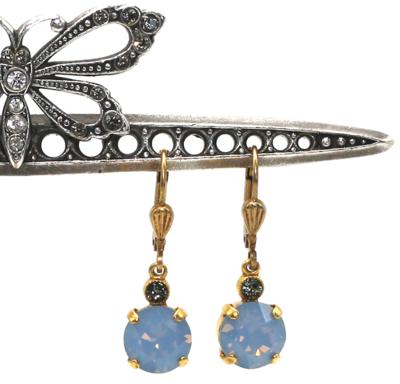 La Vie Parisienne JELLY TOTS Gold With  Air-Blue  Swarovski Crystal