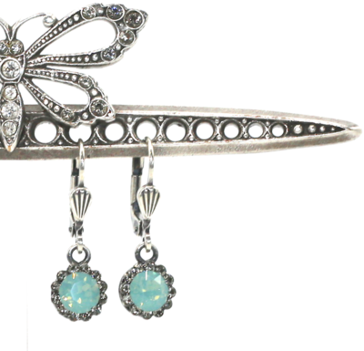 PRINCESS DIANA Silver With Pacific Opal Swarovski Crystal