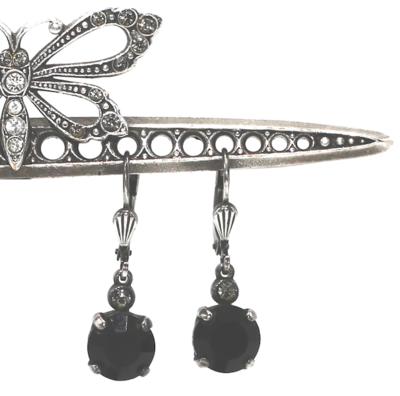 La Vie Parisienne JELLY TOTS Silver With Jet Swarovski Crystal