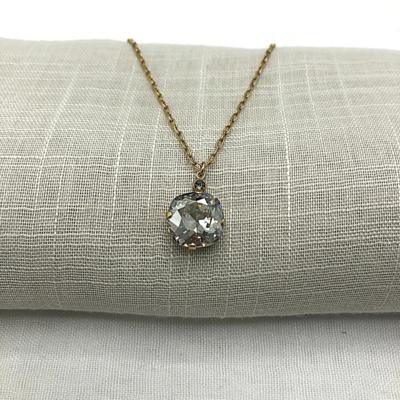 DUTCHESS CRYSTAL NECKLACE Gold with Shade Swarovski crystal