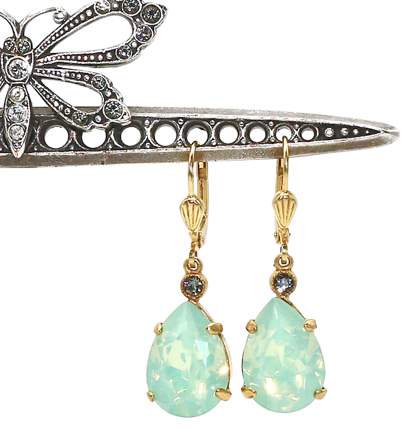 EMPRESS CUT Gold With Pacific Opal Swarovski Crystal