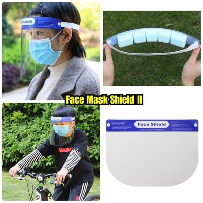 Protective Clear Face Shield Mask II Anti Droplet Anti Fog