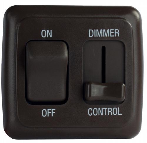 Dimmer/On-Off Rocker Switch with Bezel - Black