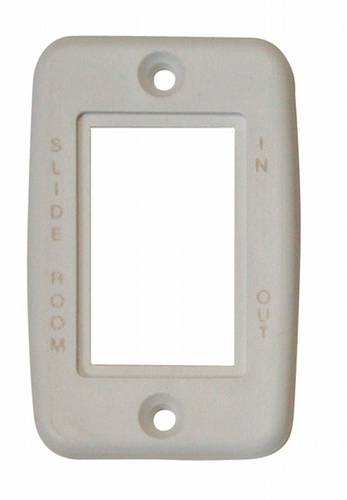 Exposed 5 Pin Side by Side Wall Plate - White with Print