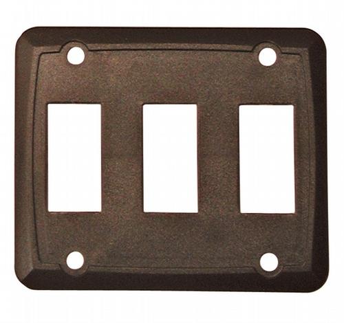 Triple Face Plate - Brown 3/bag