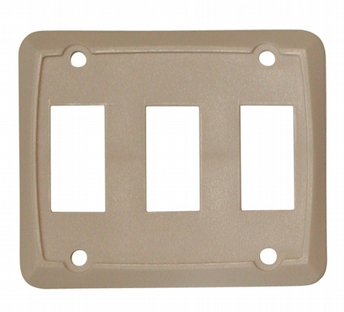 Triple Face Plate - Ivory 3/bag