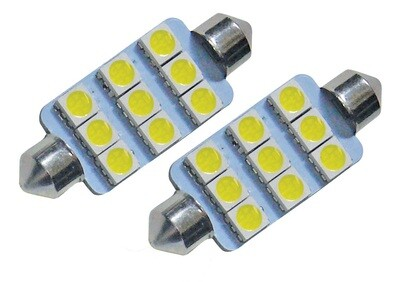 LED Bulb - 9 Diode SV8.5 Festoon Replacement