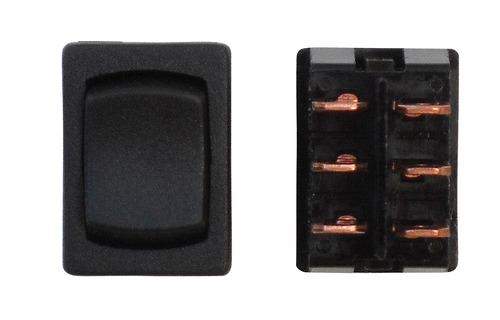 Mini Momentary On/Off/Momentary On DPDT - Black 1/Card
