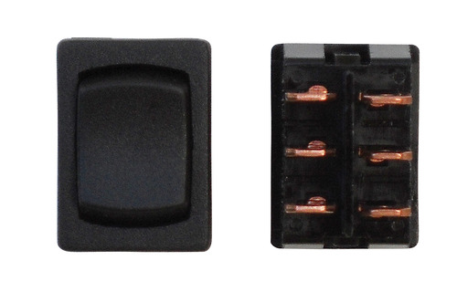 Mini Momentary On/Off/Momentary On DPDT - Black 3/Bag
