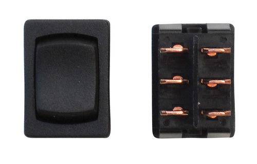 Mini On/Off/On DPDT - Black 1/Card