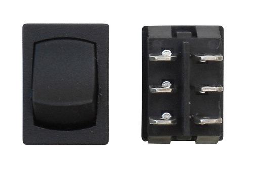 Mini On/Off DPST - Black 1/Card