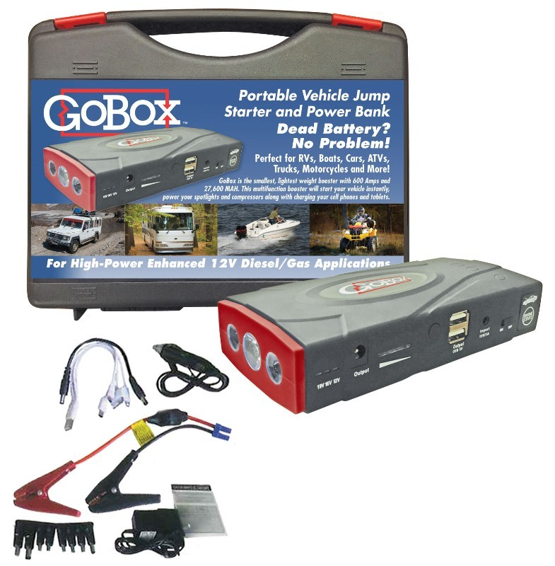 GoBox - Portable Vehicle Jump Starter and Power Bank