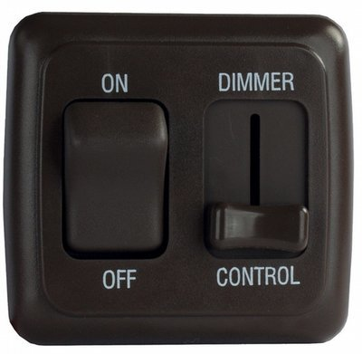 Dimmer/On-Off Rocker Switch with Bezel - Black