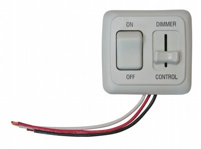 Dimmer/On-Off Rocker Switch Assembly with Bezel - White