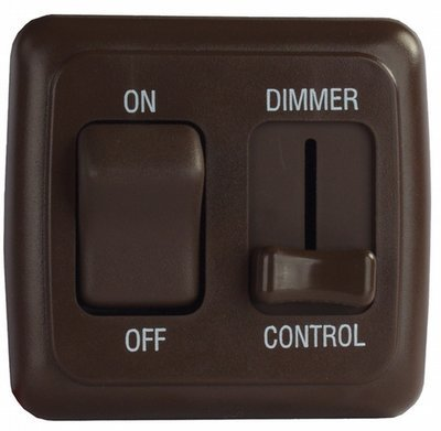 Dimmer/On-Off Rocker Switch Assembly with Bezel - Brown
