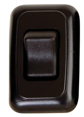 Single Contour On/Off Switch with Base and Plate - Black