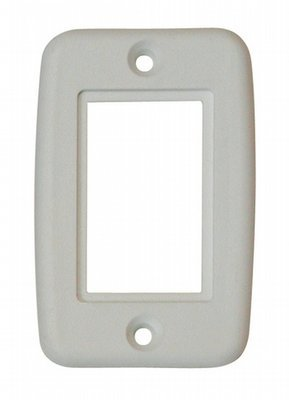 Exposed 5 Pin Side by Side Wall Plate - White