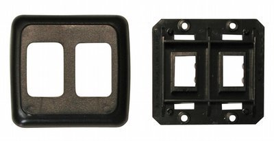 Double Base and Plate Contour Wall Plate Assembly - Black
