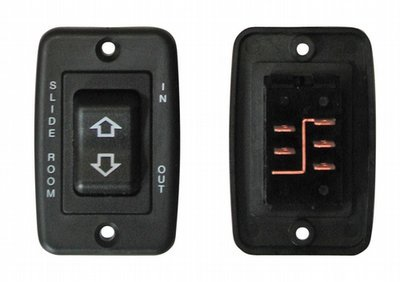 Contoured 5 Pin Side-By-Side Terminal Switch - Black with Plate