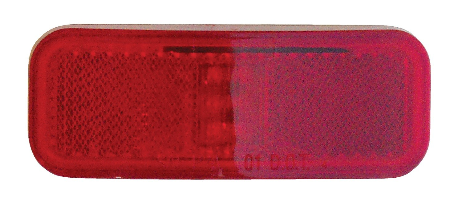 """Weatherproof LED 4"""" x 1.5"""" Marker Light with Reflector - Red"""