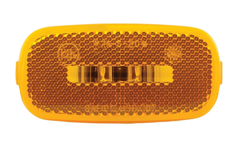 "2 Diode Waterproof LED 4"" x 2"" Marker Light - Amber"