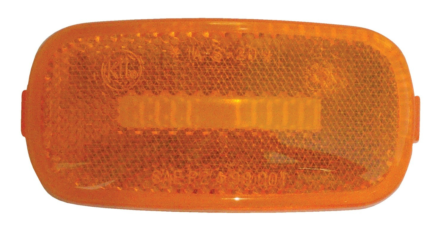 "Amber Replacement Lens for Standard 4"" x 2"" Marker Lights"