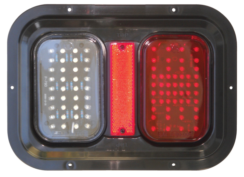 Weatherproof LED Tail Lamp, Turn Signal, and Brake Light w/ LED Back Up Light