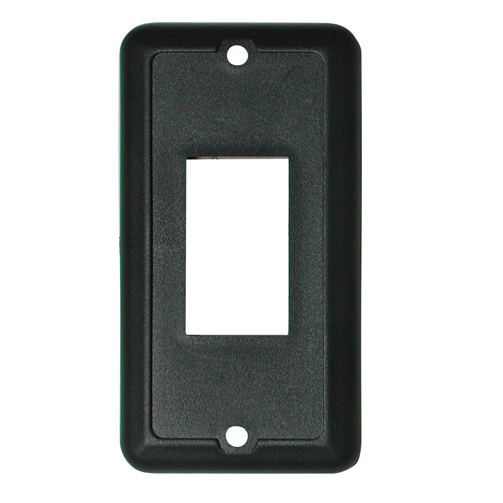 Face Plate for Slide-Out and Waterproof Switch - Black 1/card