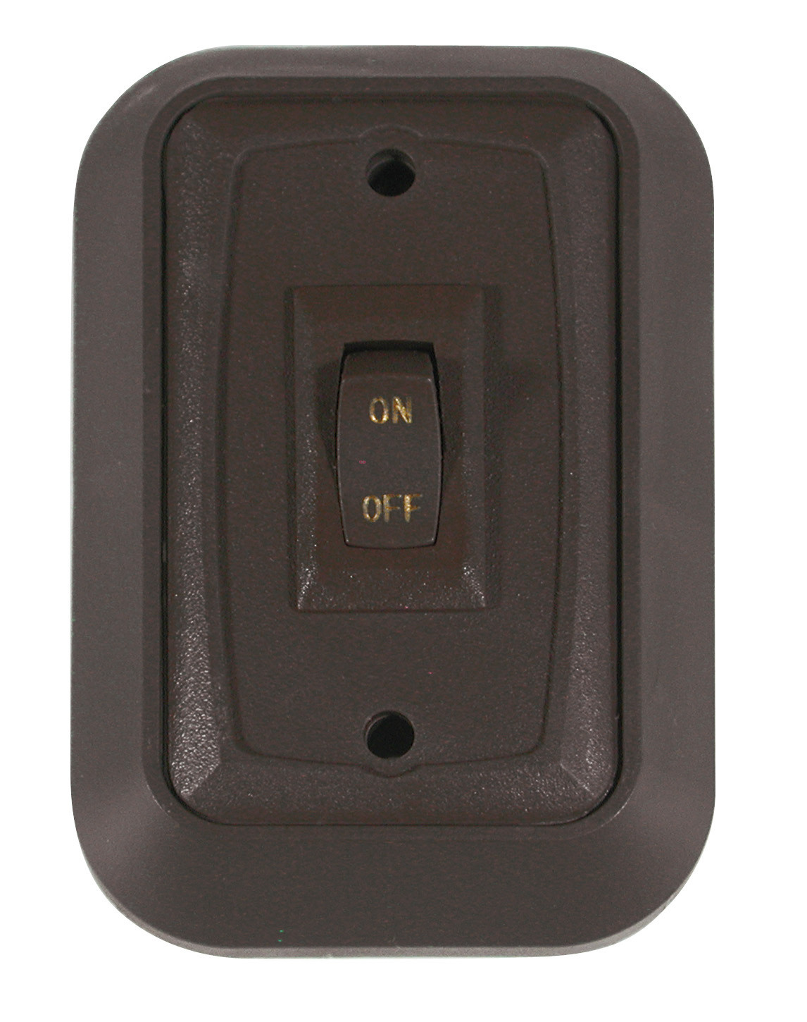 Wall Plate with Switch - Black/Black Single
